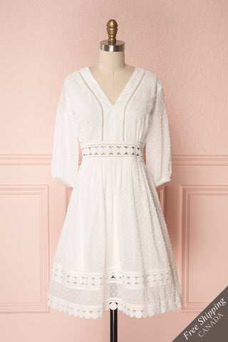 Robe see u soon blanche et grise