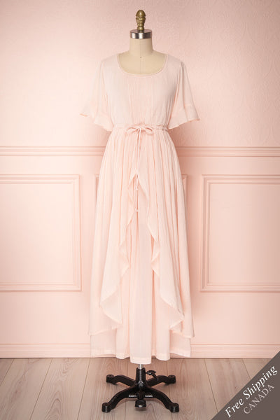 Revanui Light Pink Ruffled Maxi Dress | Boutique 1861