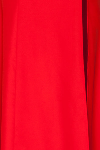 Rezina Red Strapless Maxi Dress fabric | La petite garçonne