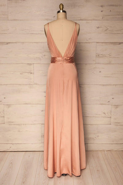 Roksem Rose | Pink Satin Gown