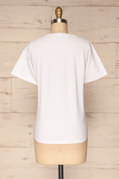 Rosanna White Short Sleeved T-Shirt | La Petite Garçonne back view