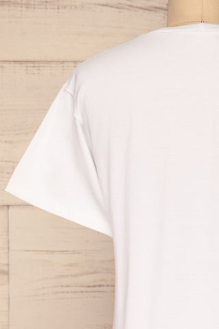 Rosanna White Short Sleeved T-Shirt | La Petite Garçonne back close-up