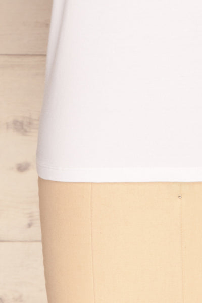 Rosanna White Short Sleeved T-Shirt | La Petite Garçonne bottom close-up