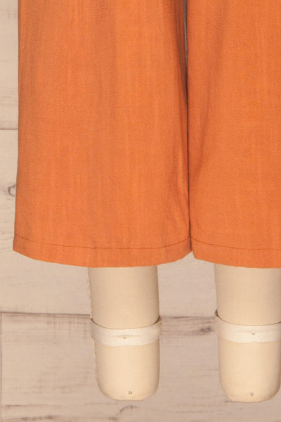 Rotello Orange High-Waisted Cropped Pants | La petite garçonne bottom