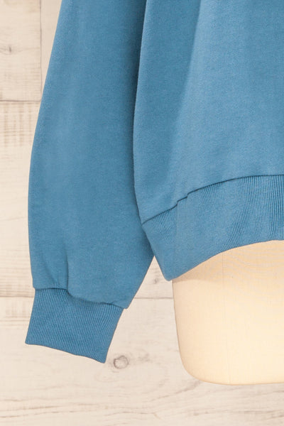 Ruby Crewneck Blue Oversized Sweater | La petite garçonne sleeve