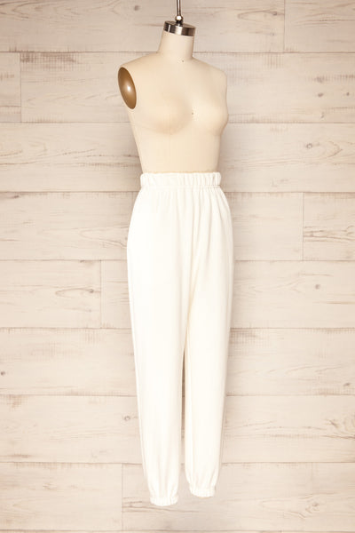 Ruby Jogger White Oversized Sweatpants | La petite garçonne  side view