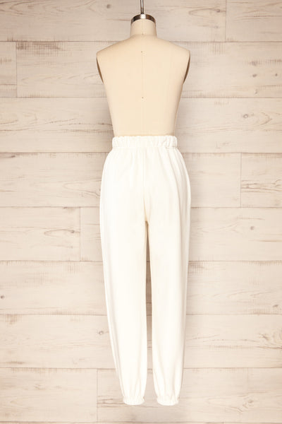 Ruby Jogger White Oversized Sweatpants | La petite garçonne back view