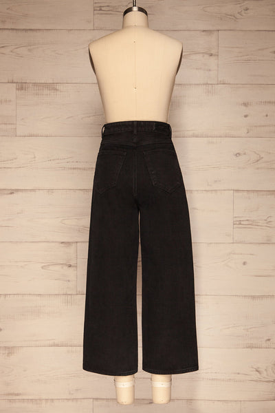 Rucka Black High-Waisted Flare Jeans back view | La petite garçonne
