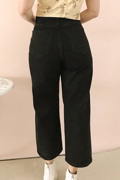 Rucka Black High-Waisted Flare Jeans | La petite garçonne model back