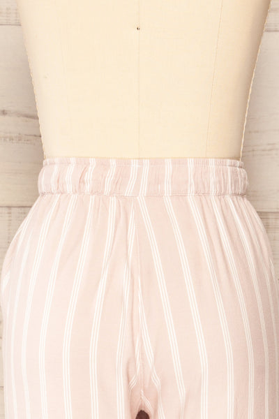 Set Diubesland Pink Ligned Pyjama Set | La petite garçonne back close up pants