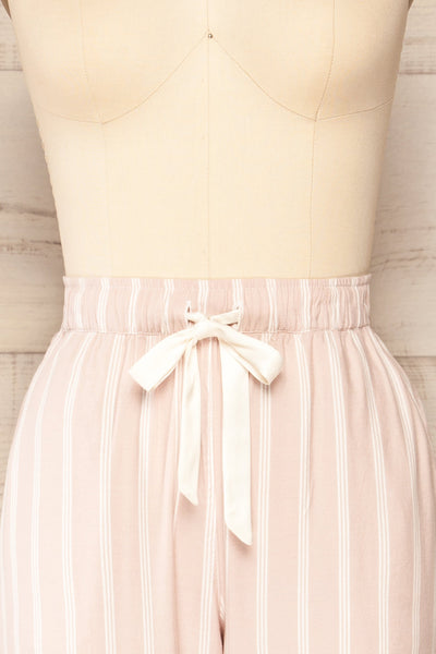 Set Diubesland Pink Ligned Pyjama Set | La petite garçonne front close up pants