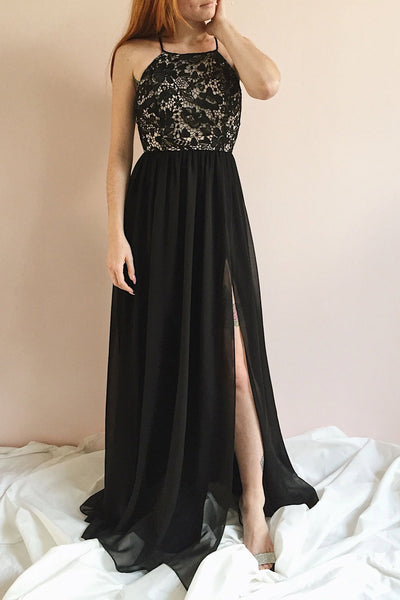 Sabira Black | Maxi Dress