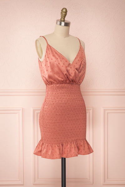 Salonie Rosegold Dotted Short Dress | Boutique 1861 side view