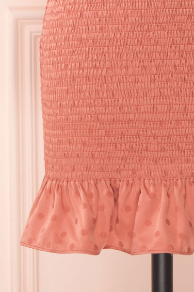 Salonie Rosegold Dotted Short Dress | Boutique 1861 skirt