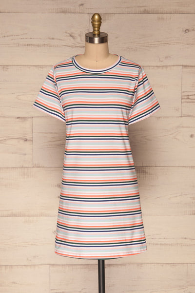 Sammia Striped T-Shirt Dress | La petite garçonne front view
