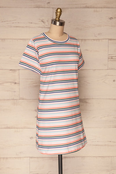 Sammia Striped T-Shirt Dress | La petite garçonne side view