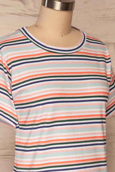 Sammia Striped T-Shirt Dress | La petite garçonne side close up