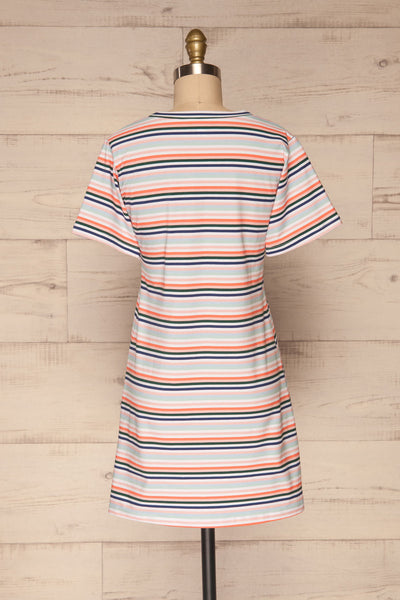 Sammia Striped T-Shirt Dress | La petite garçonne back view