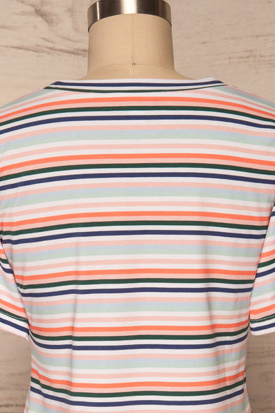 Sammia Striped T-Shirt Dress | La petite garçonne back close up