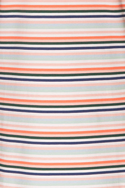 Sammia Striped T-Shirt Dress | La petite garçonne fabric