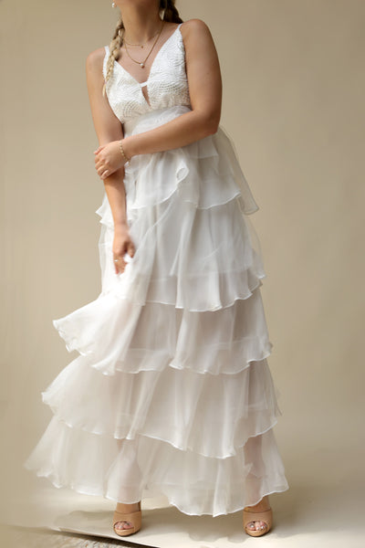 Sanetomi | White Layered Dress