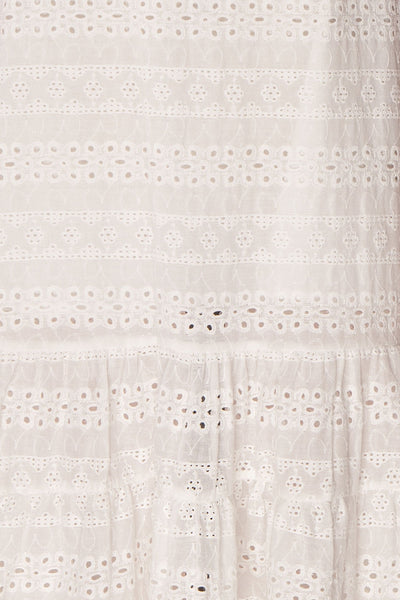 Sanisha | White Openwork Dress