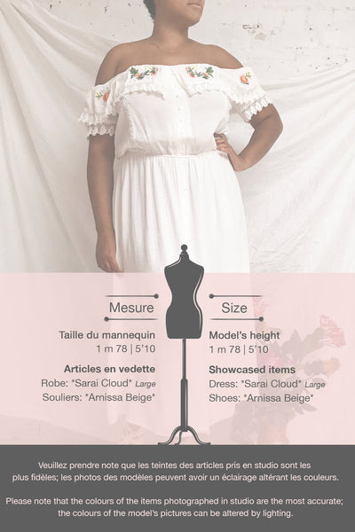 Sarai Cloud White Off-Shoulder Midi Dress | Boutique 1861 template