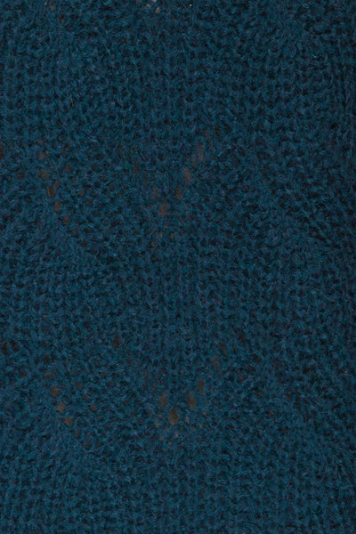 Saratov Midnight Blue Knit Sweater | La Petite Garçonne fabric detail