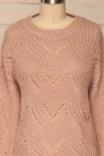 Saratov Sunrise Lilac Knit Sweater | La Petite Garçonne front close-up