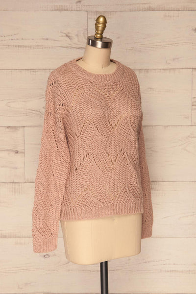 Saratov Sunrise Lilac Knit Sweater | La Petite Garçonne side view