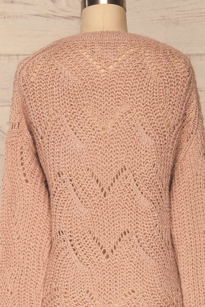 Saratov Sunrise Lilac Knit Sweater | La Petite Garçonne back close-up