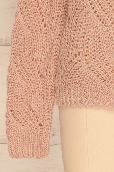 Saratov Sunrise Lilac Knit Sweater | La Petite Garçonne bottom close-up