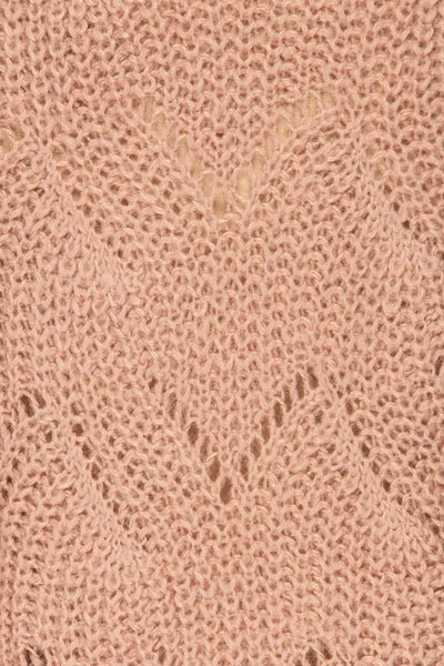 Saratov Sunrise Lilac Knit Sweater | La Petite Garçonne fabric detail