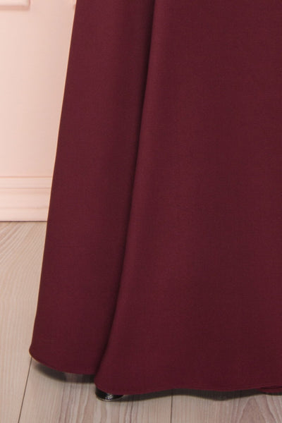 Sasha Burgundy Mermaid Maxi Dress | Robe skirt | Boudoir 1861