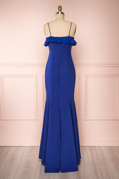 Sasha Royal Blue Mermaid Maxi Dress back view | Boudoir 1861