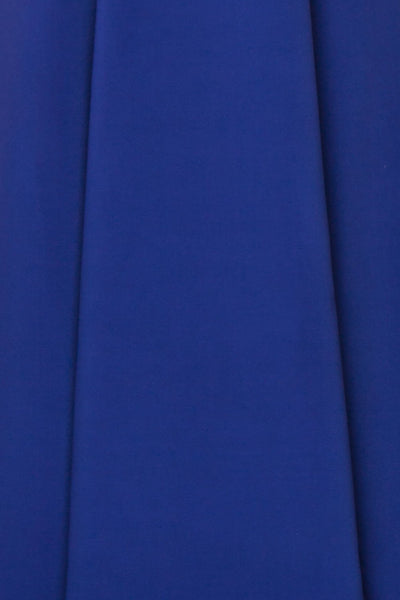 Sasha Royal Blue Mermaid Maxi Dress fabric | Boudoir 1861