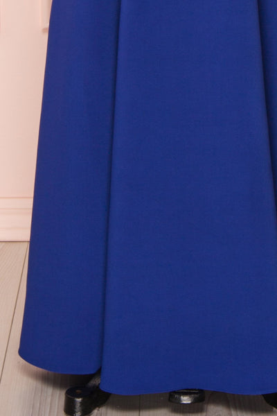 Sasha Royal Blue Mermaid Maxi Dress skirt | Boudoir 1861