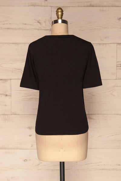 Schore Black Organic Cotton T-Shirt | La petite garçonne back view