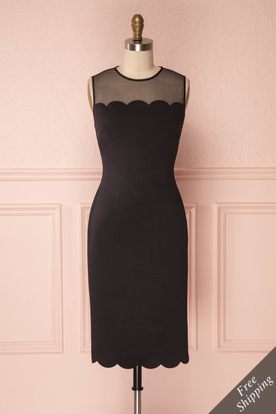 Seitaro Black Fitted Ted Baker Cocktail Dress | Boutique 1861