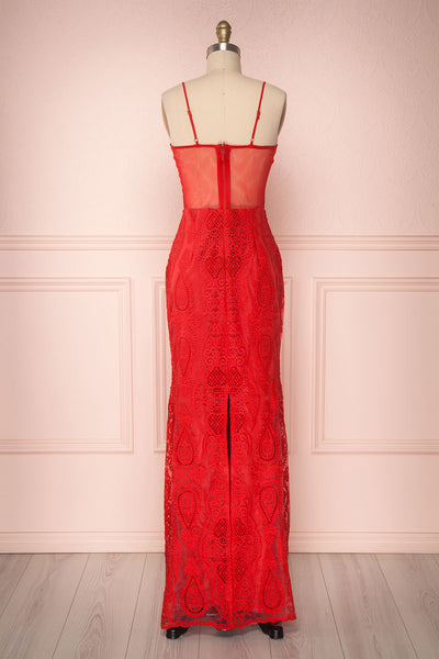Selyka Passion | Robe en Dentelle Rouge