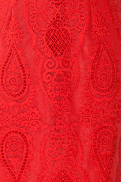Selyka Passion | Red Lace Dress
