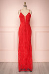 Selyka Passion Red Lace Mermaid Dress | Boutique 1861