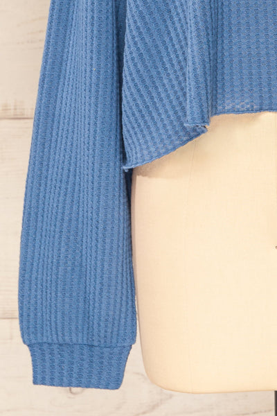 Sepino Blue Cropped Knit Sweater | La petite garçonne bottom