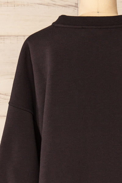 Set Luqa Black Sweater & Joggers Set | La petite garçonne top back close-up