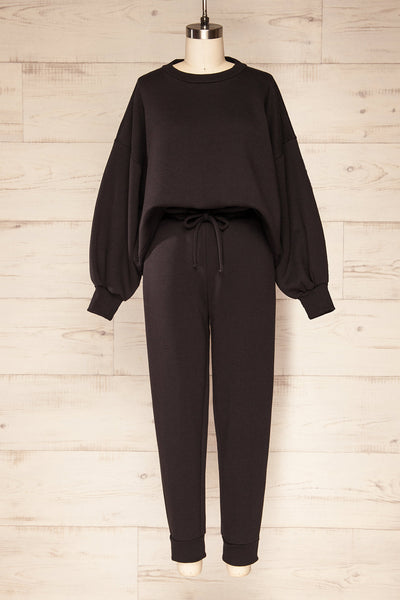 Set Luqa Black Sweater & Joggers Set | La petite garçonne set