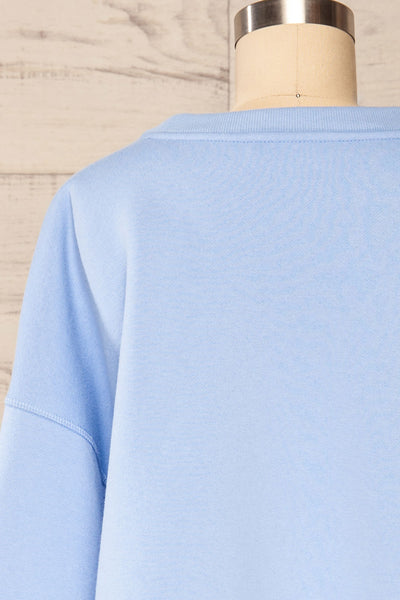 Set Luqa Blue Sweater & Joggers | La petite garçonne top back close up