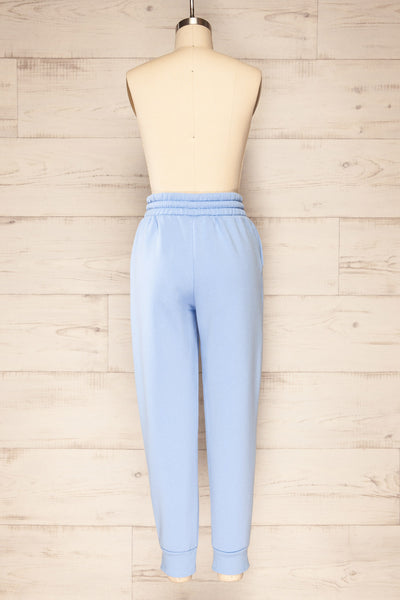 Set Luqa Blue Sweater & Joggers | La petite garçonne pants back view