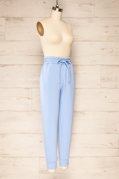 Set Luqa Blue Sweater & Joggers | La petite garçonne pants side view