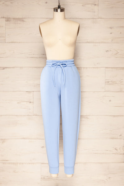 Set Luqa Blue Sweater & Joggers | La petite garçonne pants front view