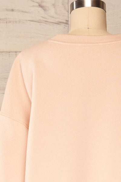 Set Luqa Blush Sweater & Joggers | La petite garçonne back close up top